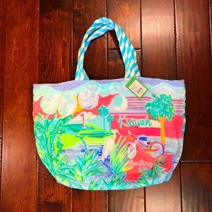 NWT🐳Lilly Pulitzer Destination Beach Tote RARE🦞